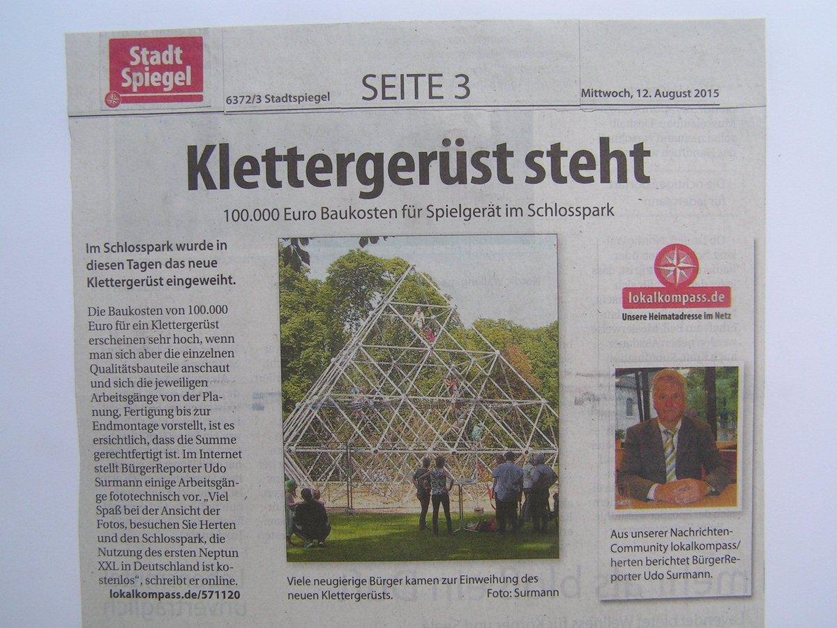 Klettergerüst Schlosspark Herten : Redaktion herten ich bedanke mich für die veröffentlichung des