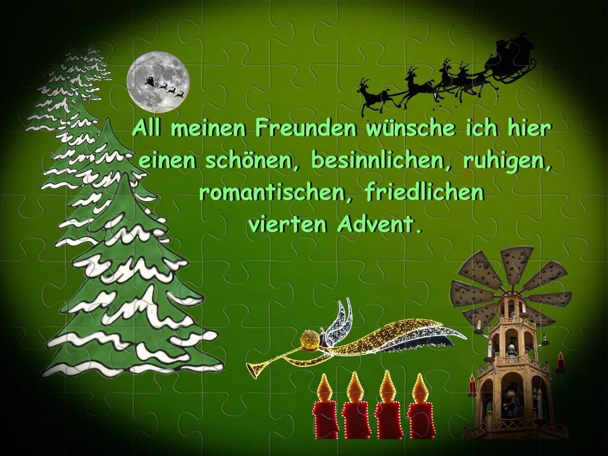 Herzliche Grüße zum 4. Advent