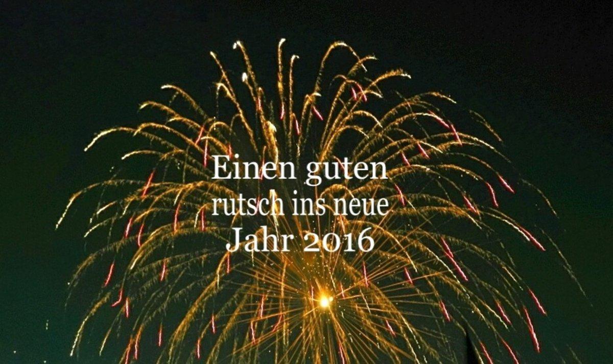 Wünsche euch allen einen guten Rutsch ins neue Jahr!