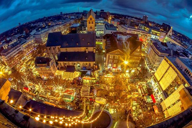 Dortmund Weihnachtsmarkt.Weihnachtsmarkt Dortmund Von Oben