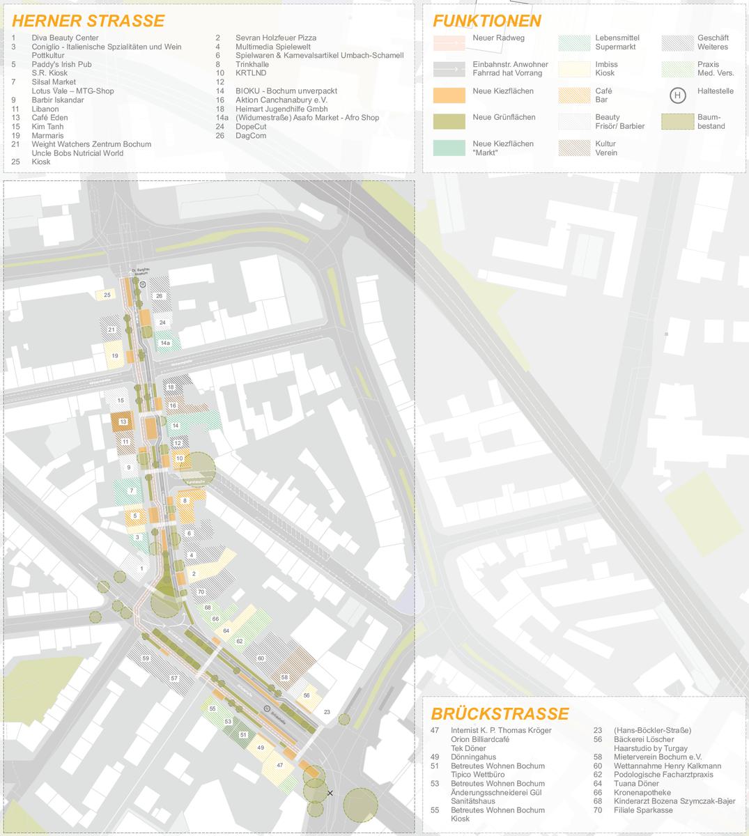 Umgestaltung Herner und Brückstraße